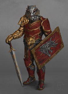 Silver Dragonborn Gladiator, Ted Ottosson on ArtStation at https://www.artstation.com/artwork/vQomd?utm_campaign=digest&utm_medium=email&utm_source=email_digest_mailer