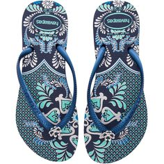 Havaianas Slim Thematic Flip Flop (2,190 INR) ❤ liked on Polyvore featuring shoes, sandals, flip flops, rubber footwear, havaianas shoes, rubber sandals, rubber shoes and havaianas flip flops