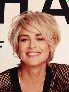Sharon Stone's Messy Bob Hairstyle