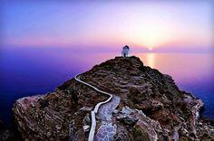 ☼ Grecia Greece ☼ Cyclades Island Sifnos Seven Martyrs Chapel Albania, Beautiful Islands, Beautiful Places, Myconos, Greek Island Hopping, Greek Beauty, Greek Isles, Greece Islands, Greece Travel