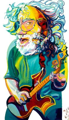 Jerry Garcia by Philip Burke