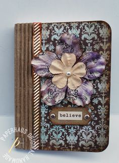 "** Altered Composition Book ""A Delightful Place To Note Down Some Journaling""  @thePaperHaus"