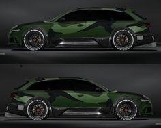 Jon Olsson Audi RS6 im grünen Camo-Look