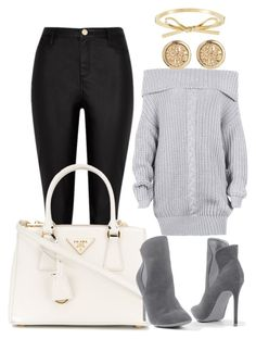 """""""Untitled #2056"""" by social-outcast-16 on Polyvore featuring River Island, Prada and Venus"""