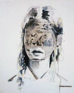 Pinceau sandra chevrier Sandra Chevrier, Portraits, Mixed Media, Artists, Face, People, Painting, Style, Brush Pen