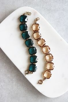Faceted Gem Bracelet