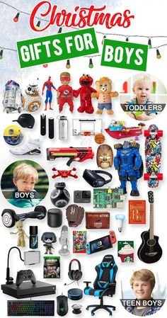 Looking for the perfect Christmas gifts for boys? While there are many different types of boys, there's one thing that they all want: something COOL! Stumped on what to get him? We've spent all year scourging through all the aisles to come up with gifts that will leave him with a smile on Christmas Day. Broken into categories and by age groups, here are over 700 Christmas gift ideas for boys sure to delight! WIN the holidays! #christmasgifts #giftideasforkids #giftideas