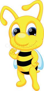 """Buy the royalty-free Stock vector """"Cute bee cartoon"""" online ✓ All rights included ✓ High resolution vector file for print, web & Social Media Bee Template, Cartoon Online, Cartoon Bee, Cute Bee, Vector File, Diy And Crafts, Creations, Beatitudes, Butterflies"""