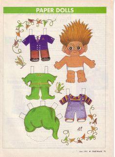Magazine Dolls not my scans – Denise Bruce – Picasa Nettalbum Paper Doll Craft, Doll Crafts, Paper Toys, Paper Crafts, Troll Party, Paper Animals, Troll Dolls, Paper Artwork, Vintage Paper Dolls