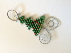 Set of 10 African Beaded Christmas Tree Ornaments. Beautiful Zipper Charms /Keyholders handmade in South Africa. Unique Seasonal decorations Ready to ship. Thank you gifts Recycled Plastic Bags, Handmade Art, Handmade Gifts, Christmas Tree Ornaments, Xmas, African Beads, Circle Design, Beads And Wire, Thank You Gifts