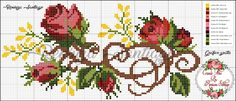 This Pin was discovered by Yağ Cross Stitching, Cross Stitch Embroidery, Cross Stitch Patterns, Cross Stitch Rose, Cross Stitch Flowers, Beading Projects, Crochet, Bookmarks, Needlepoint