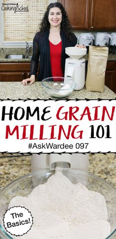 Grain mills, whole grains, milling flour... oh my! There are so many questions when it comes to home grain milling, like... what are the types of grain mills and which one should I buy? What products are best milled and can I mill gluten free and low carb grains? How about hand cranked mills or using my Kitchenaid? And most importantly, why would I want to mill and how to make home milled flour?! Watch, listen, or read for my answers on the basics of home grain milling! #grainmilling… Cooking Gadgets, Cooking Tools, Kitchen Aid Recipes, Kitchen Tools, Kitchen Gadgets, Kitchen Appliances, Vegan Spinach Artichoke Dip, Emergency Preparedness Food, Electric Skillet Recipes