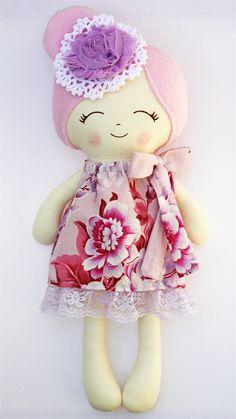 Lil' Miss Ava - handmade cloth doll | Cherry Plum | madeit.com.au