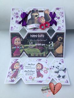 Invitaciones cumpleaños infantil MASHA Y EL OSO Visitanos en facebook SUEÑALO BONITO