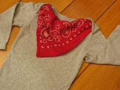 griffencat  Bandana Baby Bodysuit  Red Bandana on by griffencat, $20.00