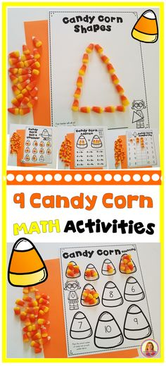 9 Fall Candy Corn Math Activities for Kindergarten