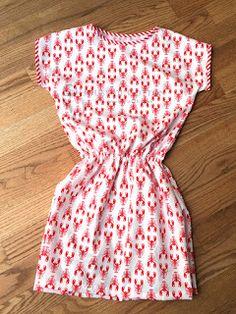 Quick girly dress DIY lobsters / Szybki tutorial: sukieneczka w raki