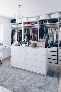 That& how I set up and designed my dressing room - Planning, setting up and designing a dressing room, dressing room ideas, walk-in closet, ikea pax p - Bedroom Storage Ideas For Clothes, Bedroom Storage For Small Rooms, Closet Ideas, Wardrobe Ideas, Storage Room, Ikea Bedroom Storage, Walking Closet, Ikea Closet Organizer, Closet Organization