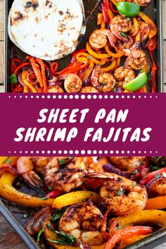 Sheet Pan Shrimp Fajitas  #healthy #dinner #recipes #for #weight #loss #clean #eating #chicken Cheap Healthy Lunch, Easy Healthy Meal Prep, Healthy Breakfast On The Go, Leftover Salmon Recipes, Healthy Salmon Recipes, Healthy Eating Recipes, Crockpot Recipes Mexican, Healthy Crockpot Recipes, Shrimp Fajitas