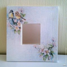 How to use picture frames in interior Design? Frame Crafts, Fun Crafts, Diy And Crafts, Paper Crafts, Decoupage Art, Decoupage Vintage, Tole Painting, Painting On Wood, Marco Diy