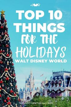 Here's our Top 10 Things to do at Walt Disney World for Christmas! From holiday snacks to Jingle Cruise to the Festival of Holidays and so much more! Here is stuff you can find at Disney World during the holiday season! Visiting Disney World in November and December means seasonal snacks, merchandise, and special events. Check out the list! #disneytop10 #disneyvacation #polkadotpixies