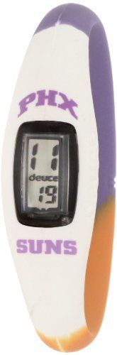 Deuce Brand DBNBAPHOL NBA Phoenix Suns Sports Watch Deuce Brand. $30.00. Made of 100% surgical grade silicon. Time & date functionality. Collectors edition packaging. The sports watch that you can wear 24/7 to support your favorite nba team. Officially licensed nba product. Remember what time the game is with this Phoenix Suns Deuce Brand Watch. This Suns watch is water resistant and features an LCD screen display. Prepare for gameday with this one-of-a-kind piece of...