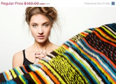 Holidays SALE Multicolored silk scarf Black by DiklaLevskyDesign, $144.00