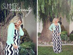 baby bump // pregnancy style   Chevron dress