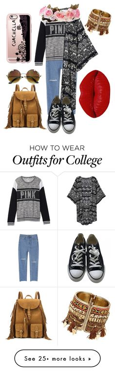 """Coachella"" by aliyehkhan on Polyvore featuring Victoria's Secret, Converse, Yves Saint Laurent, Casetify and Winky Lux"
