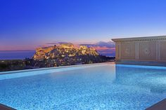 Rooftop pool in Athens