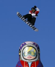 Canada's Mark McMorris takes a jump during the Men's Snowboard Slopestyle Semifinal, Saturday, February 8, 2014.