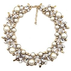2014 new women Z design fashion chain necklace bib collar chunky choker pearl crystal Necklaces luxury statement jewelry women