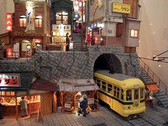 Showa Eiro Landscape Diorama of Takaki Yamamoto Exhibition Toy House, Model Train Layouts, Environment Concept Art, Art Themes, Miniature Houses, Model Building, Art Model, Fairy Houses, Small World