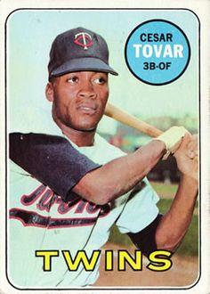 1969 Topps #530 Cesar Tovar Front