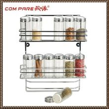 Kitchen Storage Rack, Kitchen Storage Rack direct from Jiangmen Compare Metal Industrial Co., Ltd. Hanging Spice Rack, Wall Mounted Spice Rack, Wall Racks, Kitchen Spice Racks, Kitchen Storage, Storage Cabinets, Glass Spice Jars, Glass Bottles, Empty Bottles