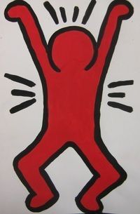 We start off the lesson by learning about the artist Keith Haring, a street Keith Haring Poster, Keith Haring Art, Keith Allen, Art Worksheets, Diy Artwork, Principles Of Art, Art Plastique, Elementary Art, Famous Artists