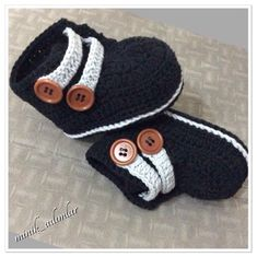 (Crochet Baby Booties Boys) - 34 trendy ideas for crochet baby boy socks ideas Crochet Baby Boots, Crochet Baby Sandals, Crochet Baby Clothes, Crochet For Boys, Crochet Slippers, Boy Crochet, Crochet Cap, Knitted Baby, Baby Knitting Patterns