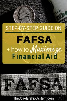 In the world of financial aid, the Federal Application for Federal Student Aid (FAFSA) is king. So, what is the FAFSA? It is a critical set of forms that determine whether a student is eligible for federal grants and loans, and is used by schools during t Grants For College, Financial Aid For College, College Fund, College Planning, College Admission, Scholarships For College, College Students, Financial Planning, College Tips