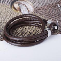 Vintage Real Leather Bracelet Brown Black Multi Layer Bracelet For Men Simple Style Bracelet is well-designed, shop on NewChic and buy Vintage Real Leather Bracelet Brown Black Multi Layer Bracelet For Men Simple Style Bracelet now. Layered Bracelets, Bracelets For Men, Fashion Bracelets, Vintage Leather, Real Leather, Vintage Type, Bracelet Sizes, Simple Style, Bag Accessories