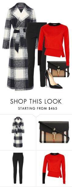 """""""Untitled #867"""" by mrseclipse ❤ liked on Polyvore featuring Martin Grant, Burberry, Gucci, Rejina Pyo and Christian Louboutin"""