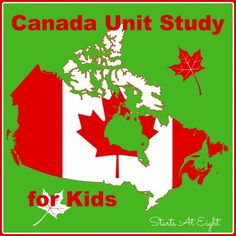This Canada Unit Study for Kids includes books, videos, and both online and printable resources for your child to learn about the largest country. Geography For Kids, Geography Lessons, Teaching Geography, World Geography, Teaching Kids, Study History, History Education, Teaching History, Canada For Kids