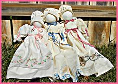 Knowing that I had lots of my grandmother's embroidered pillowcases, one of my crafty friends offered to lend me her pattern for pillowcase dolls! She explained that, historically, the dresses hav...