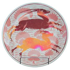 William De Morgan Ruby Lustre Charger decorated with Antelopes, circa 1890