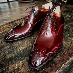 Handmade Men's American Luxury Brogue Toe Maroon Leather Shoes, Stylish Lace Up Dress Shoes Upper Material Leather Fully Leather Lining Inside Leather Sole Color Maroon Style Brogue Toe Lace Up Shoes - Online Store Powered by Storenvy Leather Dress Shoes, Lace Up Shoes, Men's Dress Shoes, Suede Shoes, Ankle Shoes, Handmade Leather Shoes, Leather And Lace, Men's Leather, Brown Leather