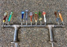 Unique Custom 10 Tap Iron Pipe Beer Tap Tower Pub Brewery Home Bar. $1,925.00, via Etsy.