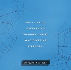"""Paul writes Philippians from jail & people wonder if he will be able to continue serving the Lord. Paul's reply is """"of course, I haven't accomplished anything for Jesus on my own. I did it all through Jesus. I can do all things through Christ who strengthens me"""" (Philippians 4:13). He lifts our burdens & supplies the strength. Jesus wants you to be joyful, and that comes as you draw near to Him.  Draw near to Jesus in trials. He knows you endure them to fulfill all things for His Kingdom…"""