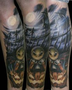 ... Christmas Tattoos on Nightmare Before Christmas Tattoos Designs Scary