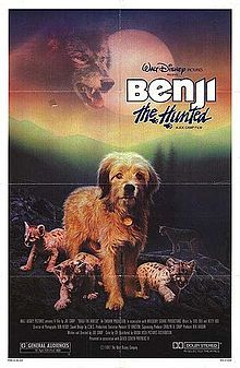 Benji the Hunted is a 1987 children's film about a dog trying to survive in the wilderness. It was released by Walt Disney Pictures. This was the last Benji movie to star Benjean in the title role. The film is notable for the fact Gene Siskel and Roger Ebert disagreed on the film; The movie was filmed entirely on location in Oregon and Table Mountain, in Washington near the town of Cascade Locks.