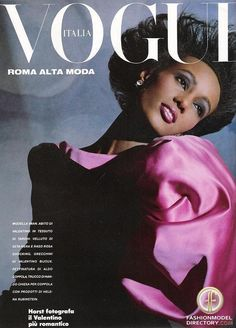 Iman on the cover of Italian Vogue #FollowFriday #fashion #icon