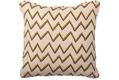 Zig-Zag Peridot Pillow